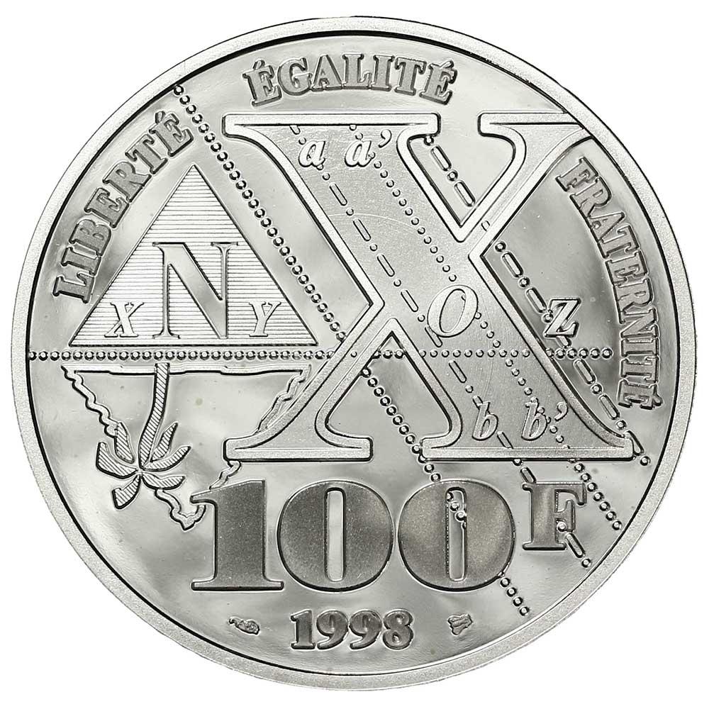 100 francs Monge revers