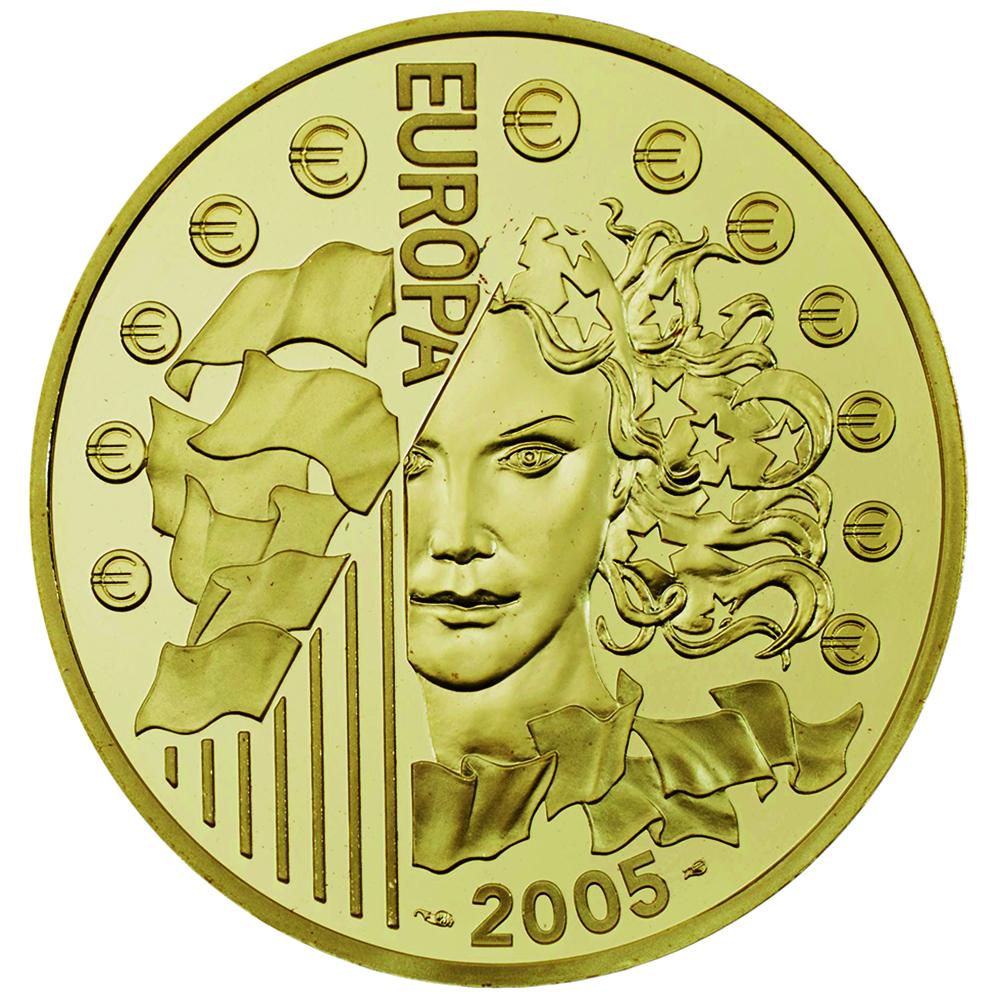 50 euros or bleu avers reduit