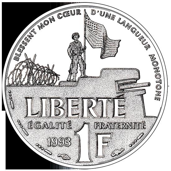 1 franc 1994 / D-Day–6 juin 44