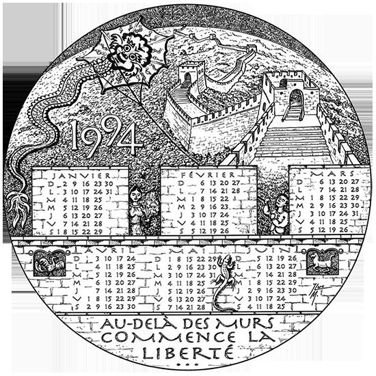 Projet de médaille-calendrier 1994